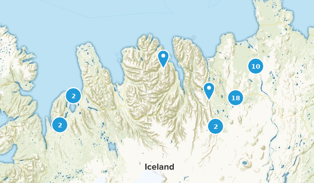 Northeastern, Iceland Nature Trips Map