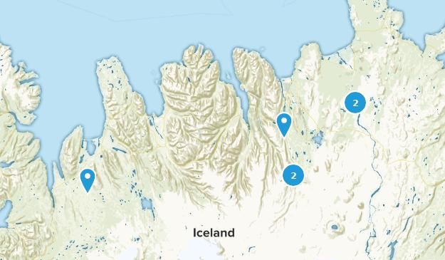 Northeastern, Iceland Waterfall Map
