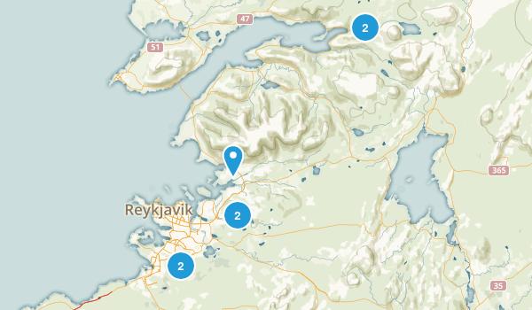 Reykjavík, Iceland Hiking Map