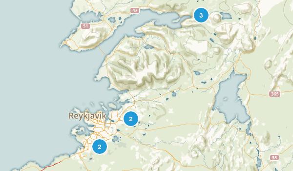 Reykjavík, Iceland Nature Trips Map