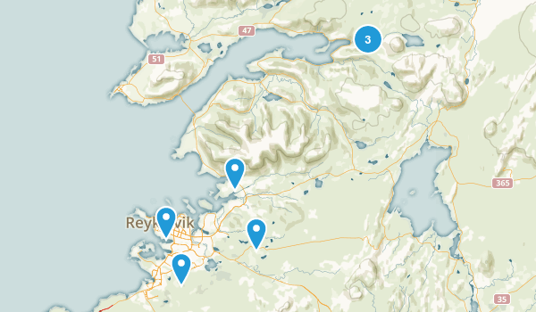 Reykjavík, Iceland Walking Map