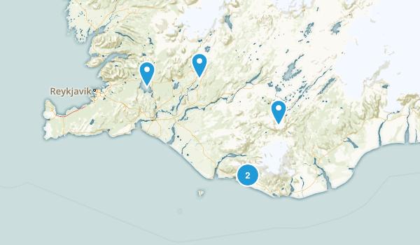 Suðurland, Iceland Lake Map