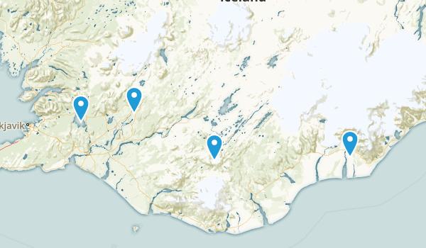 Suðurland, Iceland Parks Map