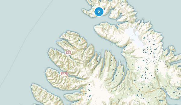Vestfirðir, Iceland Parks Map