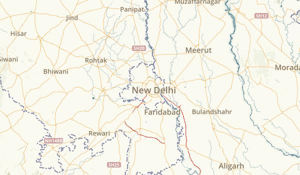 Delhi, India Parks Map