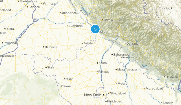 Haryana, India Nature Trips Map