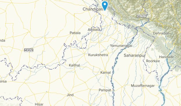 Haryana, India Parks Map