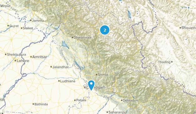 Himachal Pradesh, India Parks Map