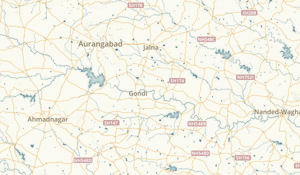 Maharashtra, India Parks Map