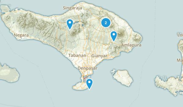 Bali, Indonesia Hiking Map