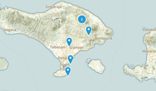 Bali, Indonesia Views Map