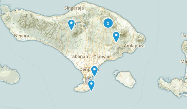 Bali, Indonesia Walking Map