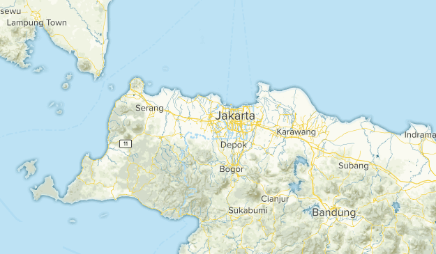 Banten, Indonesia Parks Map