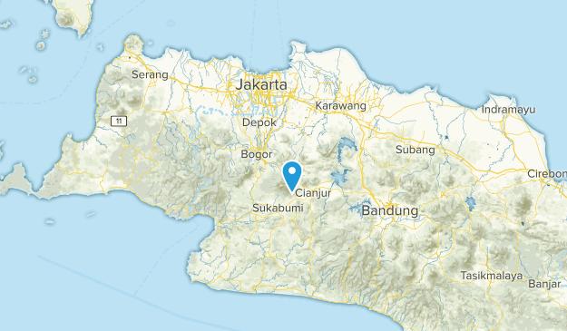 Jawa Barat, Indonesia Parks Map