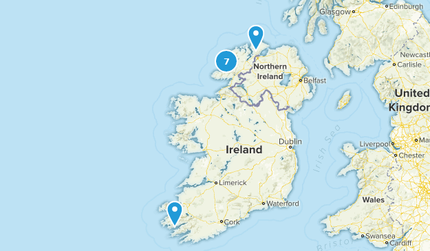 Donegal On Map Of Ireland.Best Trail Running Trails In County Donegal Ireland Alltrails