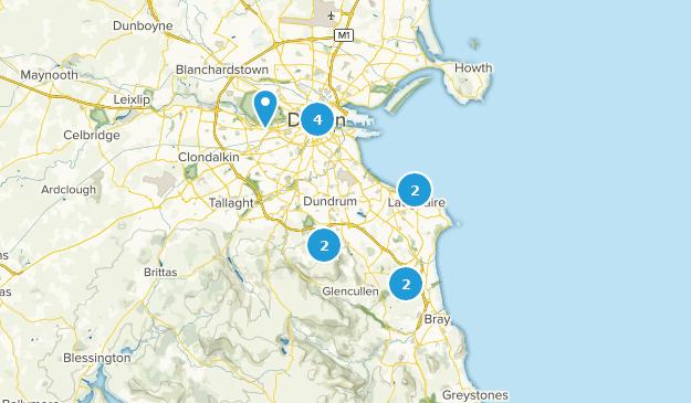 County Dublin, Ireland Hiking Map
