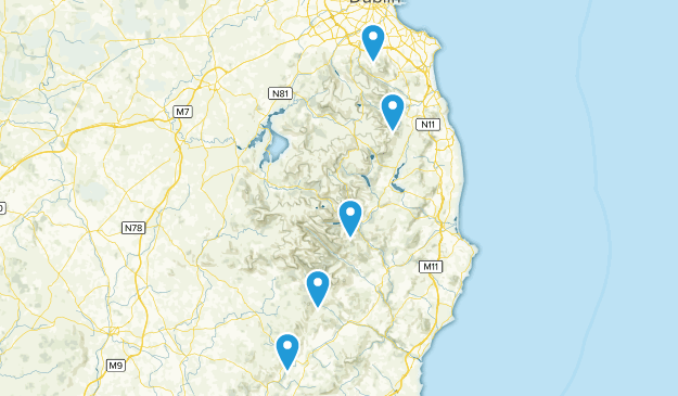 County Wicklow, Ireland Camping Map