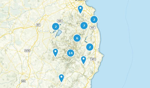 County Wicklow, Ireland Hiking Map
