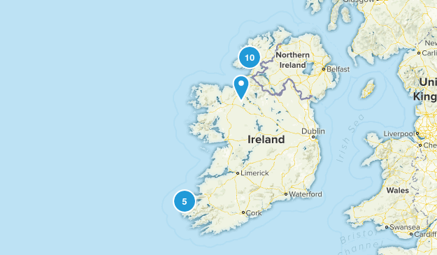 Donegal, Ireland Hiking Map