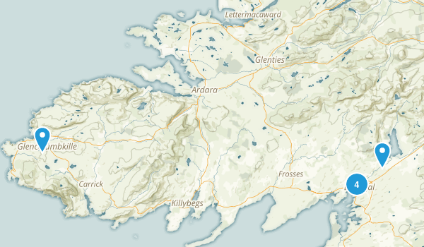 Donegal, Ireland Kid Friendly Map