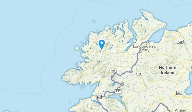 Donegal, Ireland Parks Map