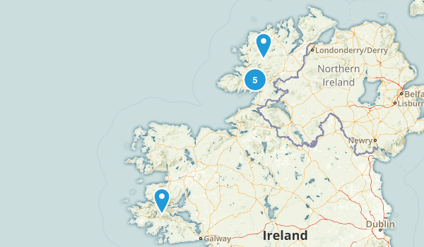 Donegal, Ireland River Map