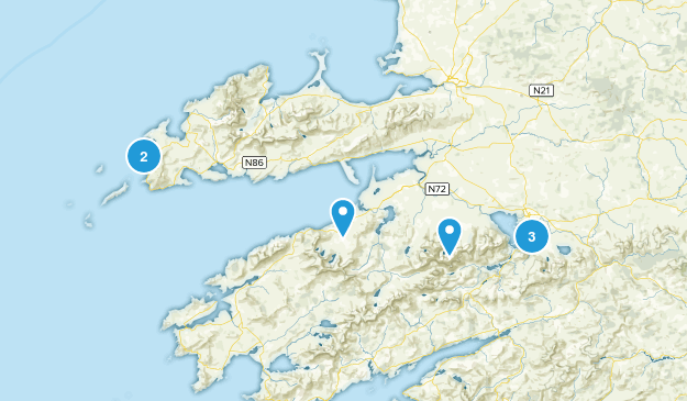 Kerry, Ireland Trail Running Map