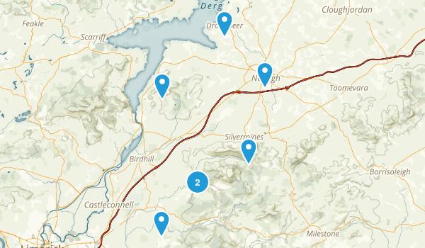North Tipperary, Ireland Hiking Map