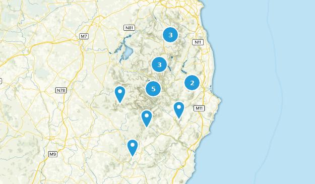 Wicklow County, Ireland Hiking Map