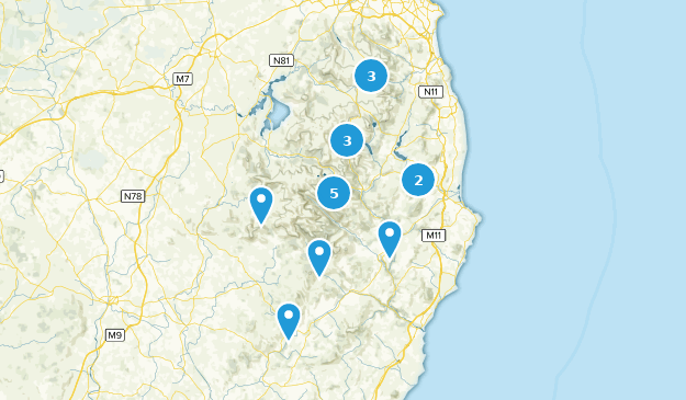 Wicklow County, Ireland Nature Trips Map