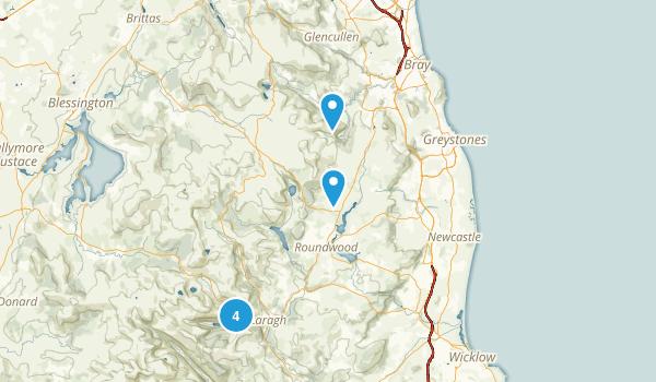 Wicklow, Ireland Parks Map