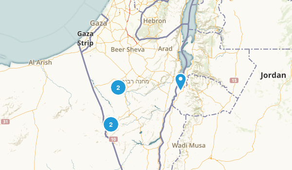 HaDarom, Israel Dogs On Leash Map
