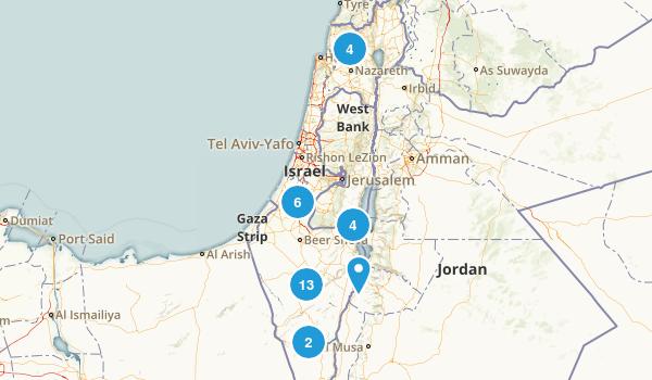 HaDarom, Israel Hiking Map
