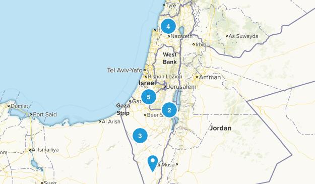 HaDarom, Israel Historic Site Map