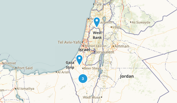 HaDarom, Israel Mountain Biking Map