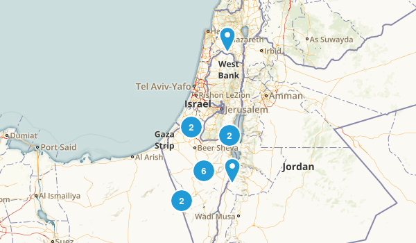 HaDarom, Israel Nature Trips Map
