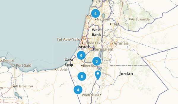 HaDarom, Israel Walking Map