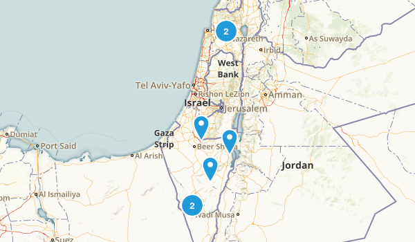 HaDarom, Israel Wildlife Map