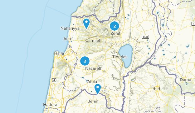 HaZafon, Israel Parks Map