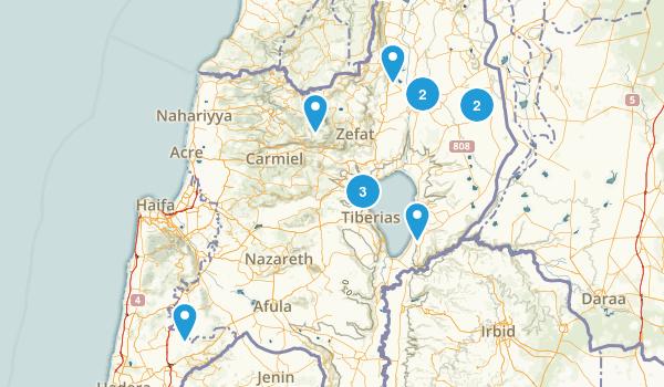 HaZafon, Israel Walking Map