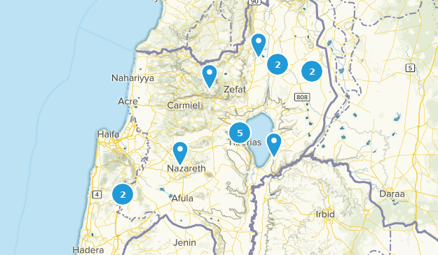 HaZafon, Israel Walking Map