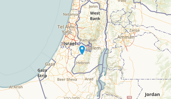 Jerusalem District, Israel Parks Map