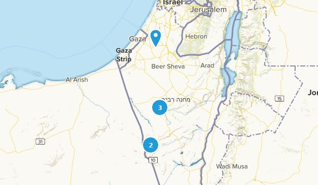 Southern, Israel Bird Watching Map