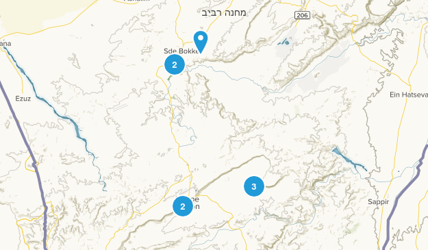 Southern, Israel Hiking Map