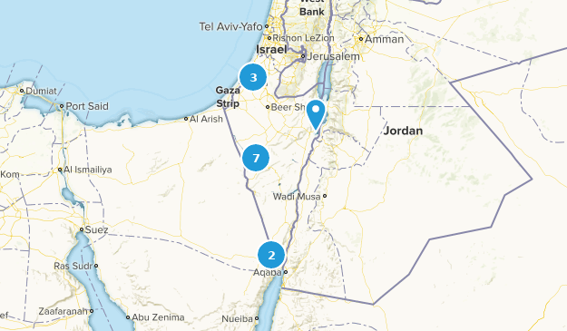 Southern, Israel Nature Trips Map