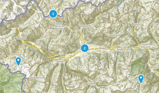 Aosta Valley, Italy Birding Map