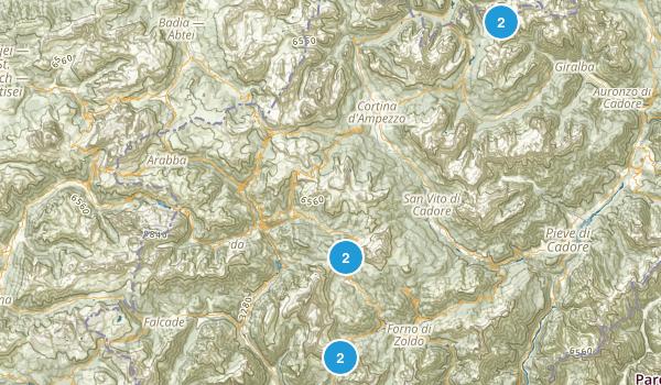 Belluno, Italy Birding Map