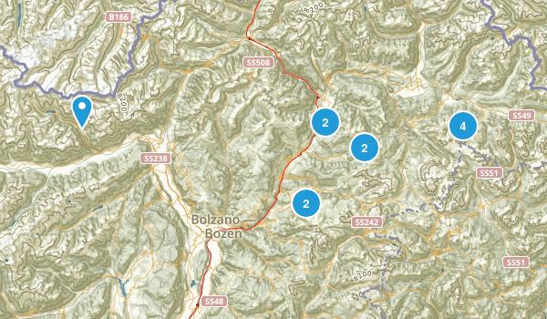 Bolzano/Bozen, Italy Parks Map