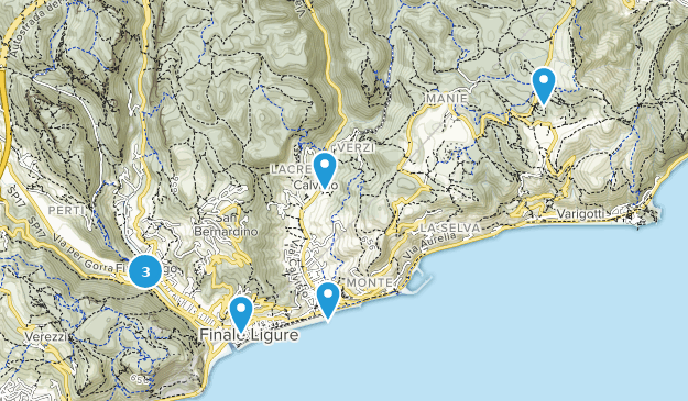 Liguria, Italy Forest Map