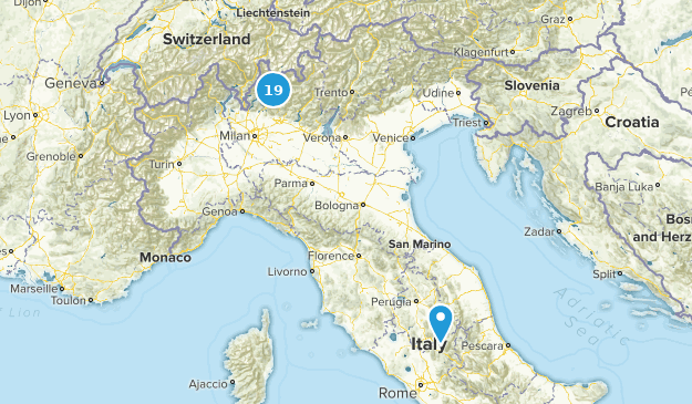 Lombardy, Italy Forest Map